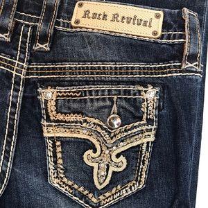 ROCK REVIVAL Betty Easy Skinny Whisker Bling Jean